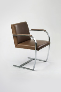 Brno Chair with flat bar by Mies van der Rohe