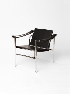 LC1 Chair by Le Corbusier black