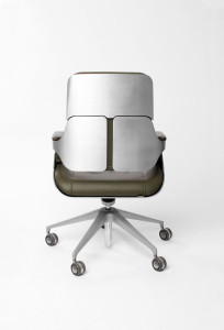 Silver Chair by Hadi Teherani back