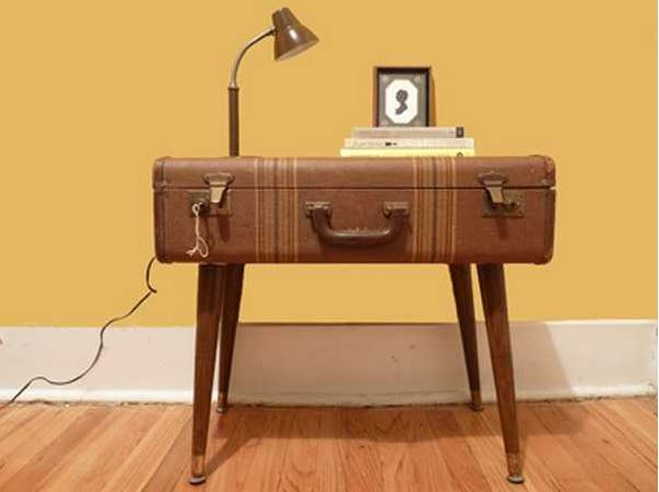 10 diy ideas retro furniture vintage suitcase table