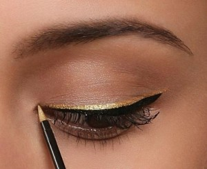 black-and-gold-eyeliner-double-eyeliner