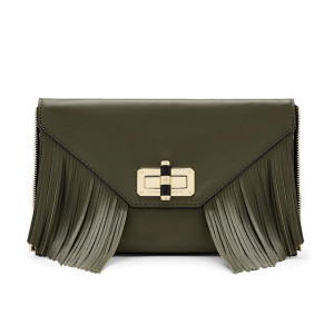 Diane Von Furstenberg 'Agent Riley' Fringe Zip On Clutch ($198)