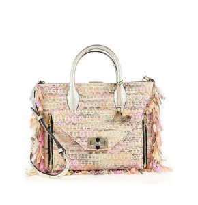 Diane von Furstenberg 'Secret Agent' Large Fringed Metallic Tweed Tote ($498)