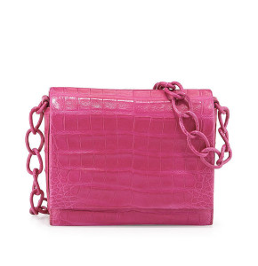Nancy Gonzalez Small Crocodile Chain Crossbody Bag ($2,350)