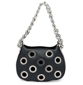 Prada Vitello 'Daino' Small Perforated Chain Hobo Bag ($2,190)