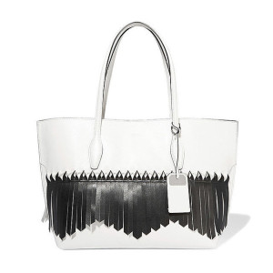Tod's 'Joy' Origami Fringed Leather Tote ($2,095)