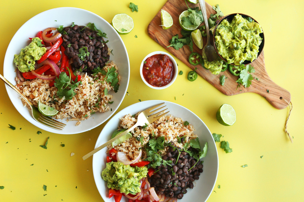 DELICIOUS-CAULIFLOWER-RICE-Burrito-Bowl-So-easy-healthy-and-full-of-fiber-and-protein-vegan-glutenfree-plantbased-recipe-mexican
