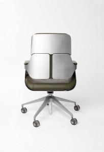 Silver Chair by Hadi Teherani back
