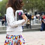 chanel skirt and bag