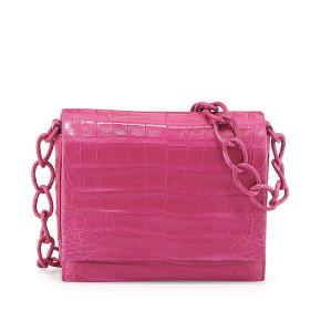 Nancy Gonzalez Small Crocodile Chain Crossbody Bag ($2,350)