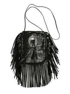 Saint Laurent 'Anita' Croc-Stamped Fringe Crossbody Bag ($1,490)