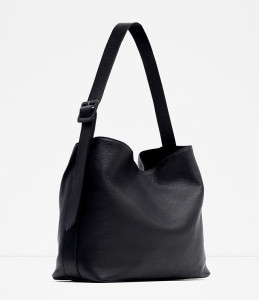 Zara Leather Bucket Bag Buckle ($119)